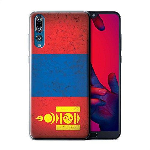 Stuff4® Hülle/Case für Huawei P20 Pro/Mongolei/Mongolisch Muster/Asien Flagge Kollektion