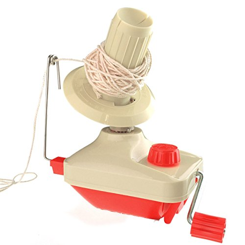 Marrywindix Bobbin Winder Yarn Winder Table Clasp, Hand Operated Manual Wool Winder Holder for Swift Yarn Fiber Ball