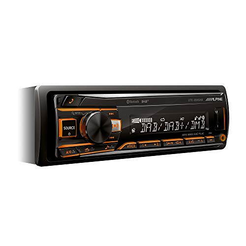 Alpine UTE-204DAB, Autoradio con Bluetooth, Nero