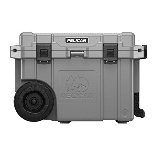 Pelican Elite 45 Quart Wheeled Cooler (Dark Grey/Black)