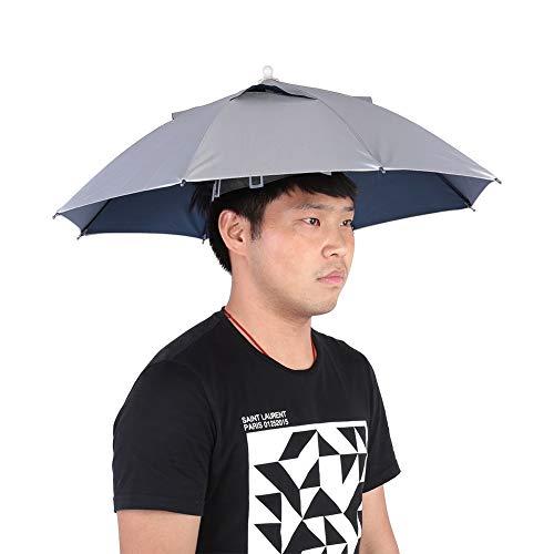 Vobor Fischen-Regenschirm-Hut-wasserdichter handfreier Regenschirm-Kappen-Fischen-Hut-UVschutz im Freien Leichtgewichtler