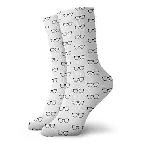 AOOEDM Nerd Gafas Calcetines Calcetines deslizadores para mujer Calcetines divertidos 30 cm / 11,8 pulgadas