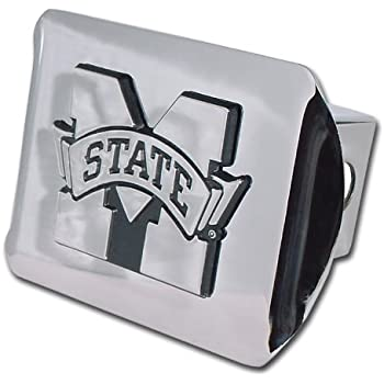 University of Houston Cougars Bright Polished Chrome with Raised Chrome UH Emblem NCAA College Sports Steel Trailer Hitch Cover Fits 2 Inch Auto Car Truck Receiver