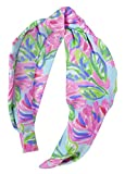 Lilly Pulitzer Women's Cute Pink/Blue/Green Knotted Headband, Totally Blossom