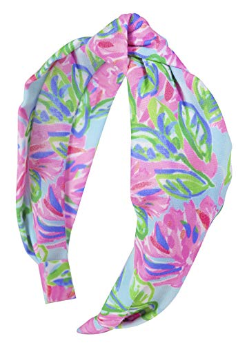Lilly Pulitzer Women#039s Cute Pink/Blue/Green Knotted Headband Totally Blossom