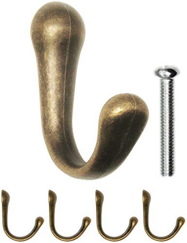 FUXXER® – Antiguo gancho perchero, toallero, gancho para muebles, diseño de bronce...