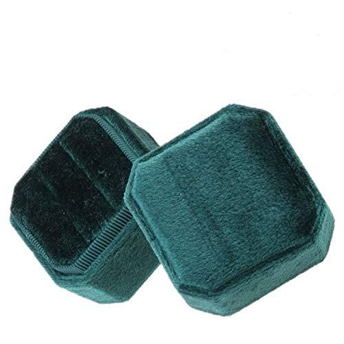 KSFBHC Pantalla de Doble Anillo de la Caja del Portador del Anillo octágono con Tapa Desmontable (Color : E)
