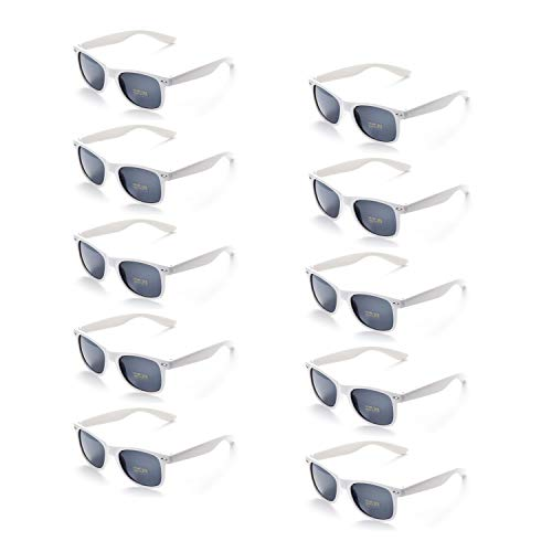 ONNEA 10 Paare Party Favors Sonnenbrille Set Sommer Kinder Damen (Weiß 10-Pack)