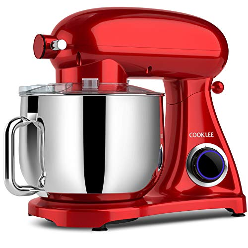 COOKLEE Stand Mixer, 800W 8.5-Qt. Kitchen Mixer with Dishwasher-Safe Dough Hooks, Flat Beaters,...