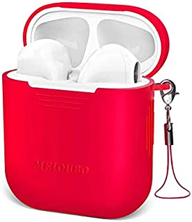 Wireless Earbuds with Charging Case in Silicone Cover,Bluetooth 5.0 Headphones Waterproof Earbuds 30 Hours Playtime Stereo Headphones Built-in Mic HD Binaural Call, Earbuds for Sport,Running (red)