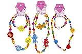Unbekannt Zweiteiliges Schmuck-Set bestehend aus Kette mit Armband für Kinder aus Holz Schmuck Holzkette Perlenkette mit Holzperlen für Mädchen Kinderkette Mädchenkette Kleinkinder