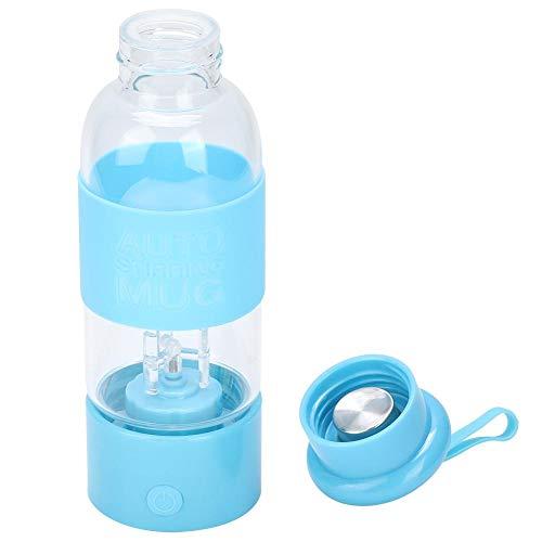 BYARSS Rührflasche, 300 ml Rührbecher Milchsaftkaffee Elektrische automatische Rührflasche(Blau)