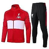 European England Men's Football Club Fútbol De Fútbol Manga Larga Ropa Deportiva Chaqueta Roja Uniforme De Entrenamiento (Chaqueta + Pantalones) -pol-b1570(Size:Extragrande,Color:Rojo)
