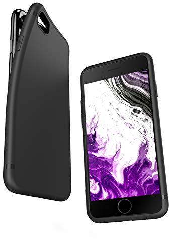 COVERbasics Cover Compatibile con iPhone 7/8 / SE 2020 (SLIMMY) Custodia Nera in Silicone TPU Opaco Sottile Slim con Protezione Fotocamera