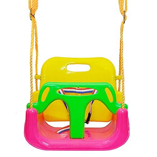 RB Juego de columpio 3 en 1 para bebés y niños pequeños, desmontable para interior y exterior, con arnés de seguridad para jardín de juegos