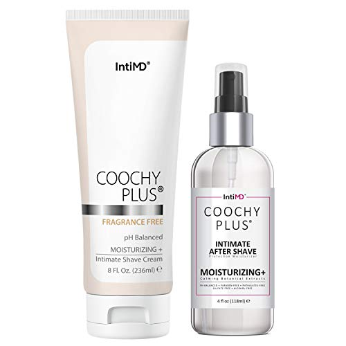 Coochy Plus Intimate Shaving Complete Kit - FRAGRANCE FREE & After Shave Protection Soothing Moisturizer Mist – Antioxidant Formula Prevents Razor Burns, Itchiness & Ingrown Hairs