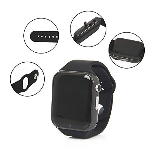 Electroplus Bluetooth Smartwatch Phone Watch with Camera/SIM Slot Compatible with All Android Devices and Smartphones, Black