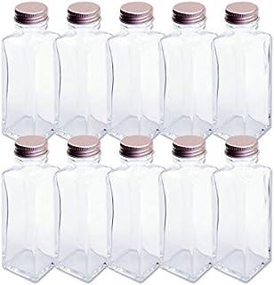 日本製 ハーバリウム 四角柱ガラス瓶 100cc 10本セット