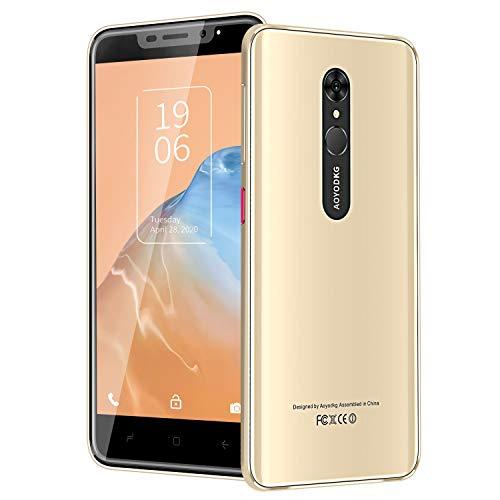 Smartphone Offerta 5.5' Telefoni Cellulari Android 9.0, Quad Core, 16GB ROM 128 GB Espandibile, 4800 mAh, Dual SIM Smartphone Economici, Doppia Fotocamera 5 MP + 8 MP, Sblocco Viso/Impronta Digitale