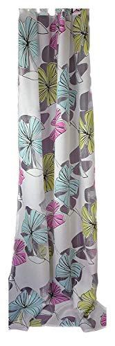 SCHMIDTGARD STOFFE - Tenda con passanti, 140 x 245 cm, colore: Bianco/Multicolore