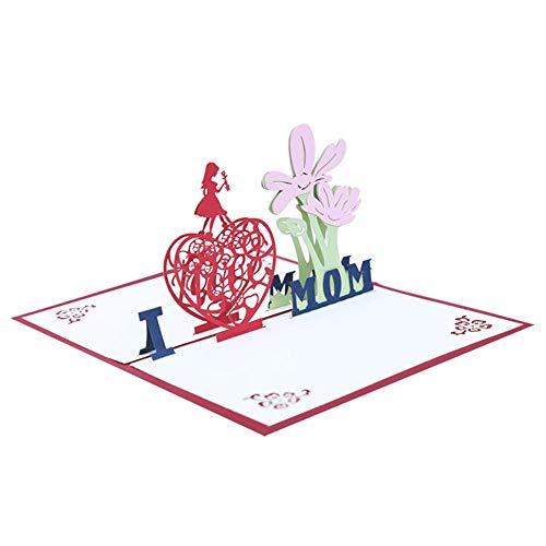 MZSM 3D-Pop-up-Karte, 3D-Pop-up-Karte für sie, handgemachte Happy Mothers Day-Grußkarte Danke-Karte (4)