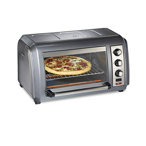 Countertop Convection Toaster Oven with Easy Reach Roll-Top Door, 6-Slice, Stainless Steel () - Hamilton Beach 31434