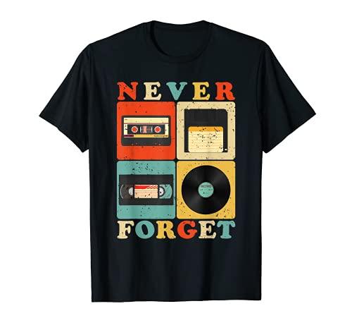 Ne jamais oublier la nostalgie drôle vintage rétro des T-Shirt