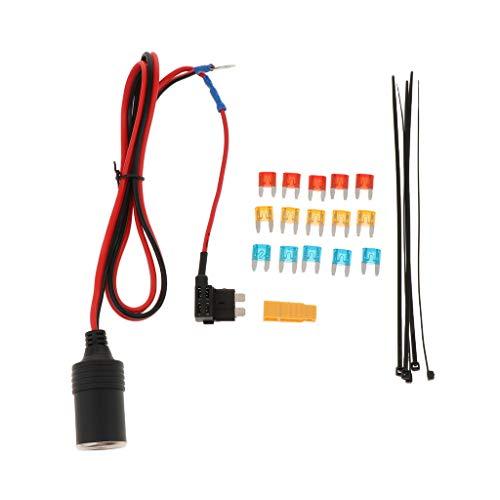 IPOTCH Adaptador para Encendedor de Automóvil Add-a-Circuit 5/10 / 15A Portafusibles Tap S Size