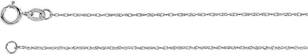 14k Popularity Outlet ☆ Free Shipping White Gold 1mm Solid Chain Rope 18