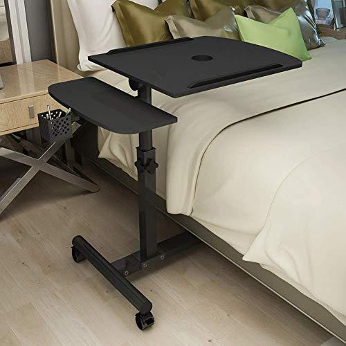 Computer Schreibtisch Tisch Cart Workstation mit Tastatur für Sofa Couch Kleiner Laptop Trolley Beistelltisch mit Rädern für Schlafzimmer Eckraum