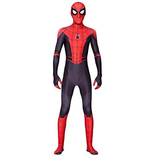 KOUYNHK Adulto Niños Nuevo Hombre Araña Lejos De Casa Cosplay Zentai Spiderman Superhero Body Traje Spandex por Encargo,Child-S