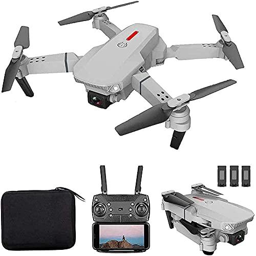 Drone telecomandato, Drone FPV con videocamera HD 4K WiFi Live Video, Qudcopter RC Pieghevole con modalità Senza Testa, Mantenimento dell'altitudine, Volo in Pista, 3D FILP