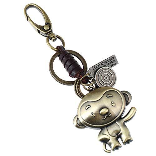 Twaalf sterrenbeelden sleutelhanger leerlegering Chinese dierenriem sleutelhanger sleutelhanger, aap