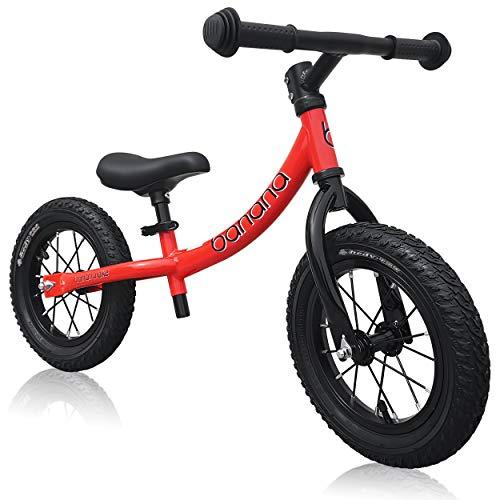 Banana Bike GT - Bicicletta Senza Pedali per Bambini - 2, 3, 4 e 5 Anni di età (Rosso)