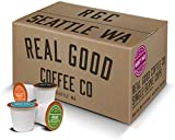 Real Good Coffee Co Variety Pack Recyclable Coffee Pods, K-Cup Compatible including Keurig 2.0 Brewers, 72 Count