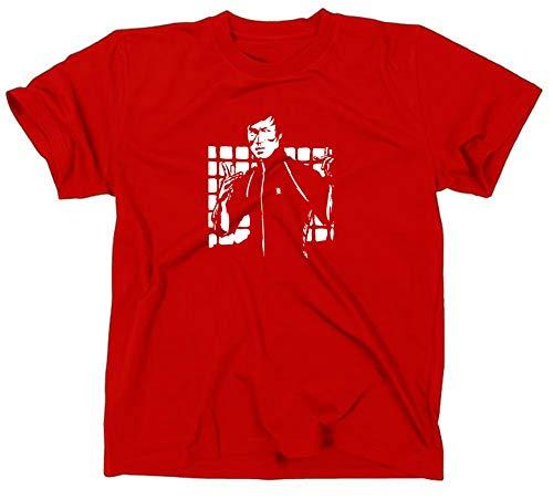 #2 Bruce Lee Mein letzter Kampf Kult T-Shirt, rot, XL