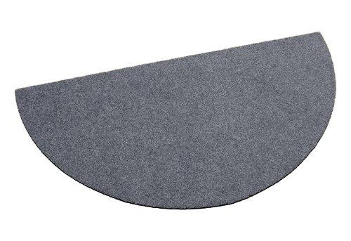 Deko-Matten-Shop Fußmatte Classic, Schmutzfangmatte, halbrund, 50x100 cm, grau, in 10 Größen und 11 Farben