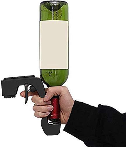 2021 Nuevo burbujeante pistola de champán de burbujeador, stoppers de botella de champán burbujeante blaster champagne coquetea pistola para boda fiesta noche club de vinos tintas ( Color : Negro )