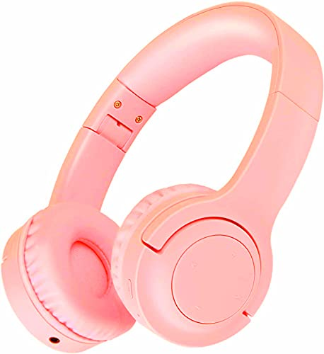 Picun Kids Bluetooth Headphones, 35 Hrs Playtime Foldable Stereo Kids Wireless Headphones with USB-C Fast Charge and Built-in Microphone for Phones/Pad Tables/PC, 2020 Upgraded Model E3 Pink