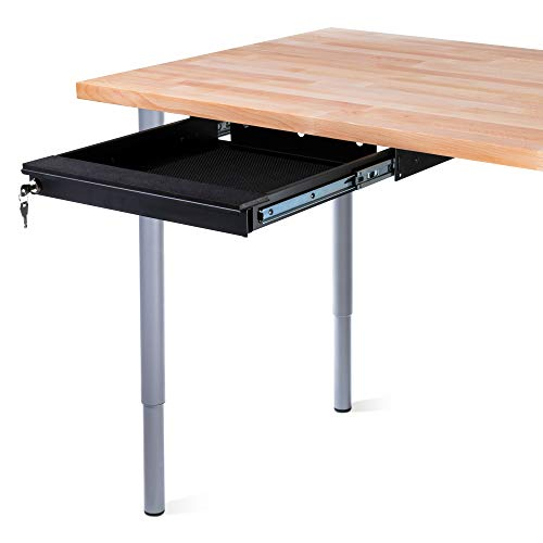 Penn Elcom Under Desk Laptop Drawer, Lockable, for 350mm/14 Inch Laptops - Premium Sliding Security Drawers