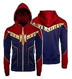 e Genius Veste en cuir pour déguisement de super-héros - Avengers, Endgame - Femme Cosplay - Veste en cuir pour femme - Veste de motard - - 48 FR/XL
