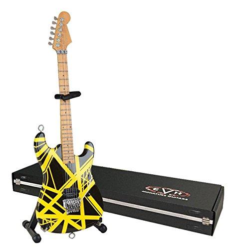EVH Miniatur Gitarren evh002Mini Replica Gitarre Van Halen, schwarz & gelb