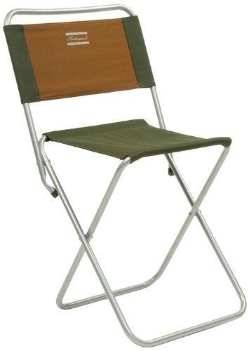 Shakespeare Folding Backrest Stool - Brown/Green, 100 Kg