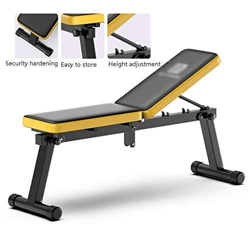 Multifunktions-Hantelbänke Bankdrücken Faltbare Langhantel-Trainingsschemel Adjustable Bench Press Hocker Bauch Latissimus Gym (Color : Black, Size : 115 * 33 * 95cm)