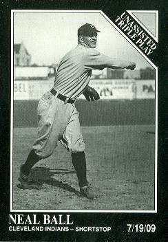 Neal Ball Baseball Card (Cleveland Indians) 1991 Sporting News Conlon Collection #203