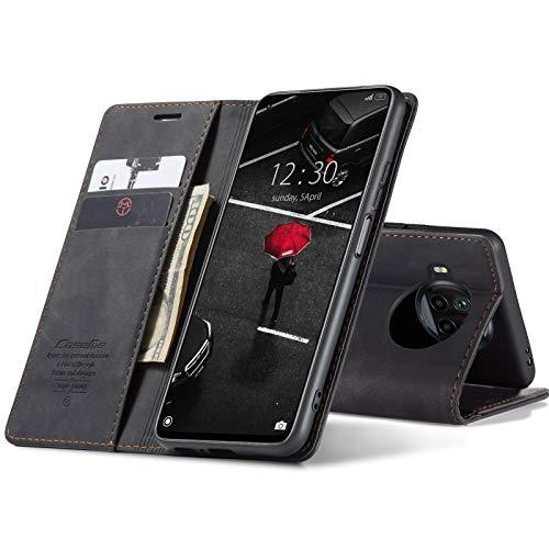 Chocoyi Custodia per Xiaomi Mi 10T Lite 5G Flip Caso in PU Pelle Premium Portafoglio Custodia,Supporto Stand,Chiusura Magnetica-Nero