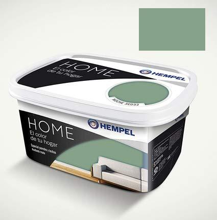 HEMPEL HOME PAREDES Y TECHOS ACABADO EN MATE INTERIORES VERDE JADE 3.5KG (JADE)