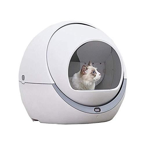 LMXQQ Cat Automatico igienici Cat Automatica Sandbox induzione Rotary di Pulizia del Gatto del Robot Litter Grande lettiera autopulente Box
