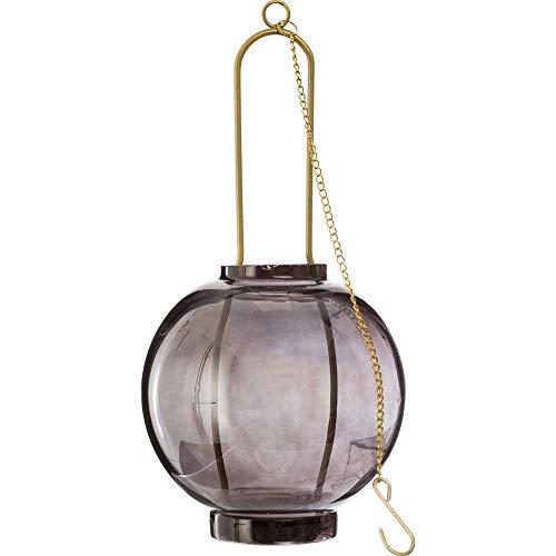 Atmosphera - Photophore en Verre à supsendre avec Chaine en métal Blush Living D11XH24 cm