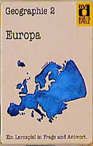 Aulis Kartenspiele. Faltschachtel mit 80 Spielkarten, 1 Spielanleitung und 1 Lösungskarte. Kartenformat 8,9 × 5,7 cm: Aulis Spiele, Geographie, Nr.2, Europa